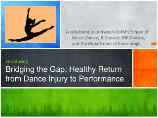 introducing Bridging the Gap: Healthy Return from Dance Injury to Performance