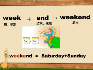 w ee k e nd  =   Saturday+Sunday