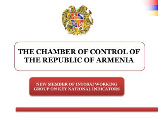 THE CHAMBER OF CONTROL OF THE REPUBLIC OF ARMENIA