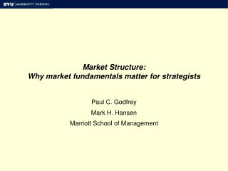 Market Structure: Why market fundamentals matter for strategists