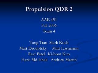 Propulsion QDR 2