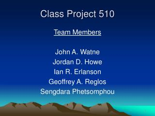 Class Project 510