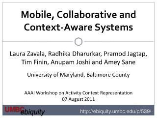 Mobile , Collaborative and Context-Aware Systems
