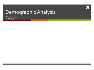 Demographic Analysis