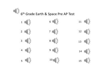 6 th  Grade Earth & Space Pre AP Test