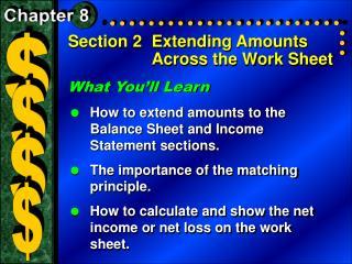 Section 2Extending Amounts Across the Work Sheet