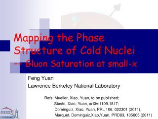 Mapping the Phase Structure of Cold Nuclei --  Gluon Saturation at small-x