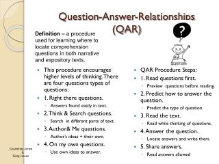Question-Answer-Relationships (QAR)