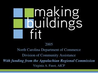 2005 North Carolina Department of Commerce Division of Community Assistance