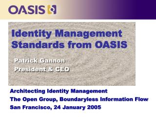 Identity Management Standards from OASIS