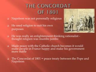 THE CONCORDAT  OF 1801