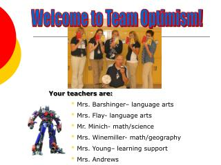 Welcome to Team Optimism!