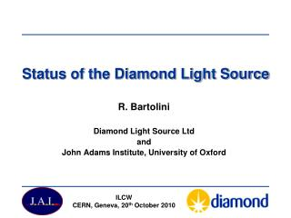 Status of the Diamond Light Source