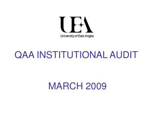 QAA INSTITUTIONAL AUDIT