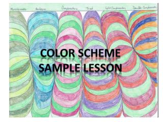 COLOR SCHEME SAMPLE LESSON