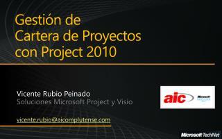 Gesti n de  Cartera de Proyectos  con Project 2010