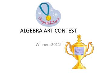 ALGEBRA ART CONTEST