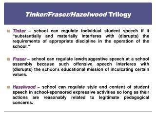 Tinker/Fraser/Hazelwood  Trilogy