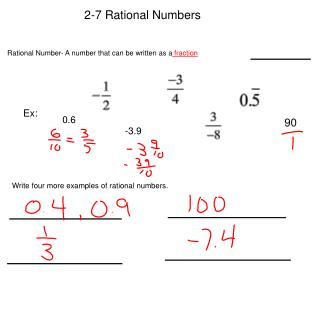 2-7 Rational Numbers