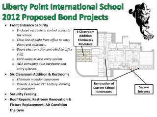 Liberty Point International School 2012 Proposed Bond Projects