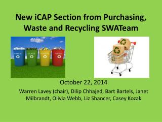New  iCAP  Section from Purchasing, Waste and Recycling  SWATeam