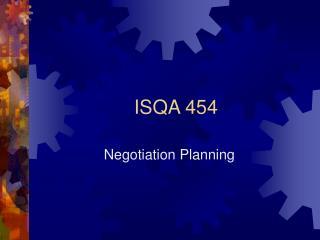 ISQA 454