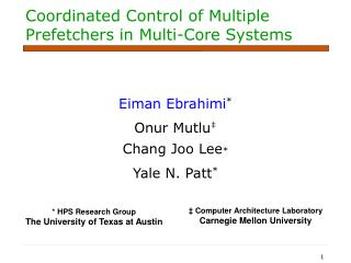 Coordinated Control of Multiple Prefetchers in Multi-Core Systems
