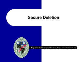 Secure Deletion