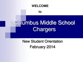 Columbus Middle School Chargers