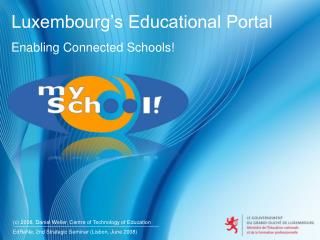Luxembourg's Educational Portal