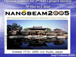 Opening Address for 2 nd  ATF2 project meeting 30 May to 1 June