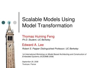 Scalable Models Using Model Transformation