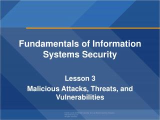 Fundamentals of Information  Systems Security  Lesson  3