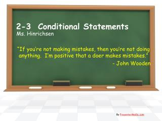 2-3  Conditional Statements