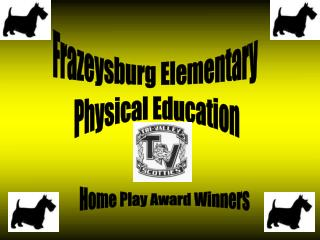 Home Play Award Winners