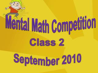 Mental Math Competition