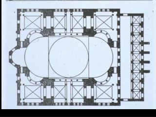Byzantine Hagia Sophia (Church of the Holy Wisdom) 532-537 A.D. Constantinople