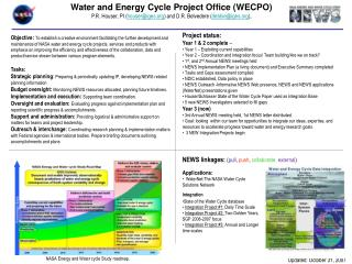 Water and Energy Cycle Project Office (WECPO)