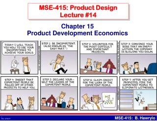 MSE-415: Product Design Lecture #14