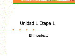 Unidad 1 Etapa 1