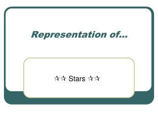 Representation of...