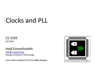 Clocks and PLL