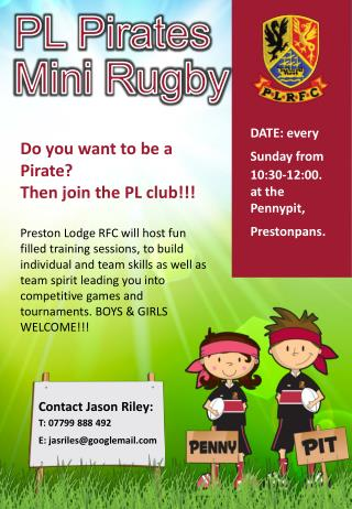 PL Pirates Mini Rugby