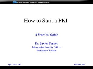 How to Start a PKI