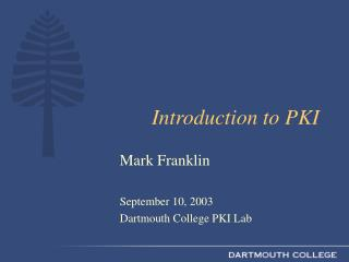 Introduction to PKI