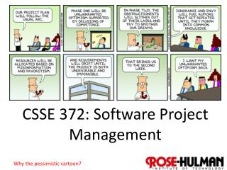 CSSE 372: Software Project Management