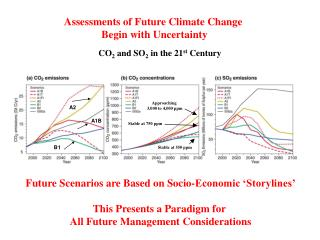 CO 2  and SO 2  in the 21 st  Century