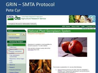 GRIN – SMTA Protocol Pete Cyr