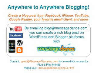 Anywhere to Anywhere Blogging!