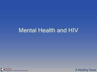 Mental Health and HIV